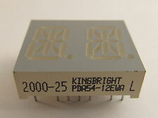 "13,8mm (0,54"") 14-Segment dual Display Kingbright PDA54-11EWA, rot, gem.Anode"
