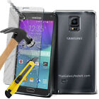 Tempered Glass Cover & Ultra Thin Transparent TPU Case For Samsung galaxy Phones