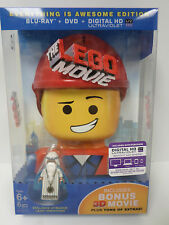 The Lego Movie Blu-Ray 3D DVD Everything Is Awesome Edition w/Minifigure NEW