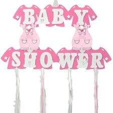 """Baby Girl Shower Hanging Foam Pink Decoration baby clothes 22"""" tall 30"""" wide"""
