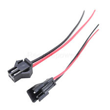 20 Pair JST SM 2Pin 2P Female Male Plug Connector Wire Cables For LED Strip 21cm