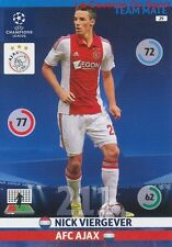 029 NICK VIERGEVER AFC.AJAX  CARD CHAMPIONS LEAGUE ADRENALYN 2015 PANINI