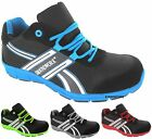 NEW MENS LIGHTWEIGHT STEEL TOE CAP SAFETY TRAINERS WORK OFFICE SHOES SIZE 3-13
