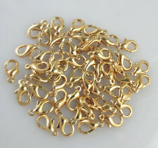Lot 50ps Pear Lobster Clasp Connector Ring End Hook Buckle DIY Findings Necklace