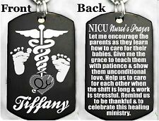 NICU NURSE'S PRAYER - Dog tag Necklace or Key chain + FREE PERSONALIZATION