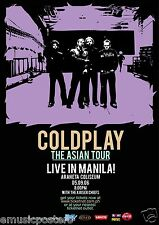 "COLDPLAY ""THE ASIAN TOUR LIVE IN MANILA!"" 2006 PHILIPPINES CONCERT POSTER - Rock"
