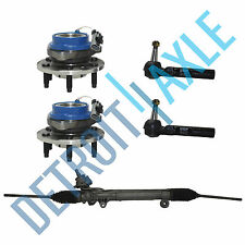 Kit: Steering Rack and Pinion + 2 Wheel Hub Bearing w/ ABS + 2 Outer Tie Rod End