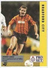 Pro Set 1991/92 Fixture cards #050 - BRADFORD CITY - ROBBIE JAMES