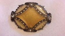 CATHERINE POPESCO SIGNED CRYSTAL BROOCH PIN MADE IN FRANCE ART DECO ENEMAL