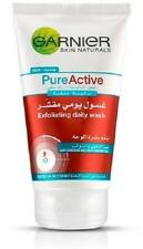 ** GARNIER PURE ACTIVE EXFOLIATING DAILY WASH 150ml  NEW ** SPOTS