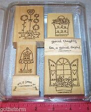 Stampin Up Sweet of You Stamp Set Saying Special Friend Flowers Cake Window