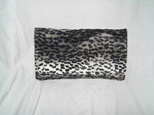 NEW LARGE DARK ANIMAL LEOPARD CHEETAH PRINT CLUTCH BAG