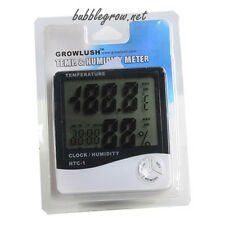 DIGITAL LCD THERMOMETER HYGROMETER CLOCK TEMPERATURE HUMIDITY 4 GROW TENT