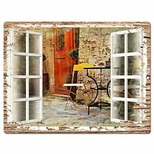 PP0599 French Window Scenery Chic Sign Shop Store Cafe Home Room Kitchen Decor