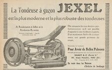 Y8997 Tondeuse à gazon JEXEL - Pubblicità d'epoca - 1926 Old advertising