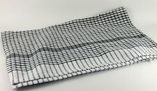 5 x Wonderdry Black Checked Tea Towels  95% cotton 5% polyester Catering Kitchen