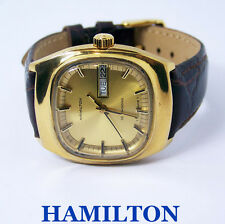 Gold HAMILTON DAY DATE Mens Automatic Watch c.1970s* EXLNT SERVICED