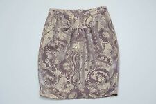 WOMENS BLUMARINE SILK VELVET SKIRT GOLD PURPLE FLOWER SIZE M MEDIUM MINT