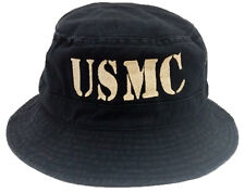 **USMC TEXT**  VINTAGE BUCKET COTTON MILITARY CAP HAT FREE SHIPPING USA
