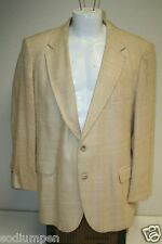 Unique Vintage Hastings Tan Wool Sport Suit Coat Jacket Blazer 2 Button Size 44