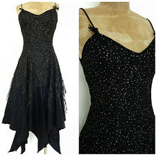 Vintage 80s Steampunk Party Dress Size Small Lagenlook Formal Cocktail Evening