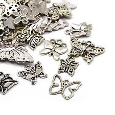30 gram Antiek Zilver Tibetaans WillekeurigeMix Bedels (Vlinder)