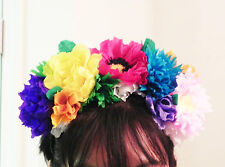 "Mexican Crepe Paper Flower "" Headpiece / Headband Cinco De Mayo, Party, Wedding"