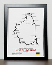 Nurburgring Grand Prix Track Poster - Formula One - F1