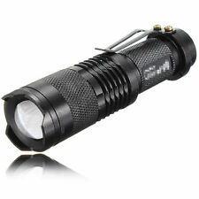 Mini Zoom 2000LM 5 Mode LED Flashlight Waterproof Q5 Tactical Torch Light