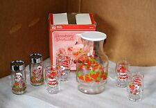 Strawberry Shortcake Juice Set plus Salt and Pepper Shakers Lot