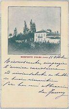 CARTOLINA d'Epoca CUNEO - Monforte d'Alba  1905