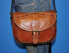 PATRICIA NASH 'CHIOS' Brown Leather Messenger Crossbody Shoulder Tote Purse Bag