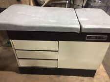 ABCO Medical Exam Table Tattoo Stirrups Cabinet STYLE USED Wood On Back Is Broke