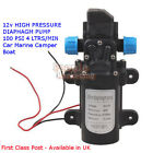 DC 12V Diaphragm High Pressure Pump - Automatic Switch 5L/min 60W Avail in UK