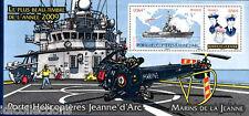 bloc feuillet souvenir N°55 Navire porte hélicoptères jeanne d'arc