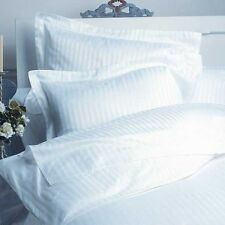 KING SIZE WHITE STRIPE SHEET SET 1000 TC 100% EGYPTIAN COTTON