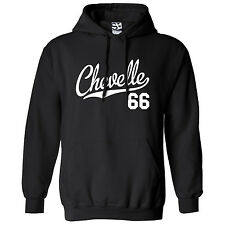 Chevelle 66 Script & Tail HOODIE - Hooded 1966 Muscle Car Sweatshirt All Colors