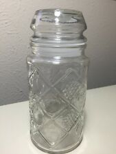 Vintage Smuckers Jelly Jam Fruit Apothecary Glass Jar 7.5""