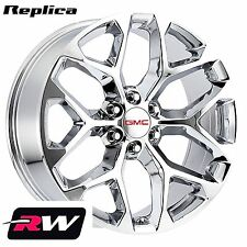 "2015 2016 2017 GMC Sierra 1500 Wheels 20 inch 20x9"" Chrome Rims 6x5.50"" +24"