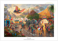 Thomas Kinkade Disney Dumbo – 12x18 S/N Limited Edition Paper