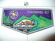 Takhonek Lodge 617, 2015, 100th Ann OA,C-4b HOST,Fox Flap,PUR,210,416,457,475,WV