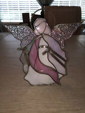 Stained Glass Angel Votive Tea Light Candle Holder
