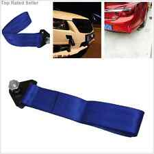 A Set Blue High Strength Racing Tow Strap For Car Front/Rear Bumper Towing Hook