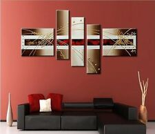 5 pieces Large canvas Modern hand-painted Art Oil Painting Wall Decor (No frame)