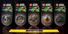 SET 5 LEGO STAR WARS MAGNETS DARTH VADER BOBA FETT YODA STORMTROOPER CHEWBACCA