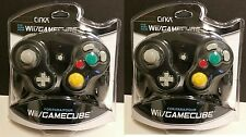 2  NEW BLACK Controllers for Nintendo Gamecube Wii System Console Control Pad
