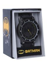 DC Comics Batman Bat Logo Bolt Face Wrist Watch Rubber Wristband NWT!