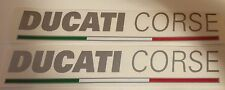 Ducati Corse w/flag 1199/1299/899 Silver Decal