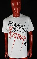 FAMOUS STARS & STRAPS NEW White Shirt Great Design Punk Skate Size MEDIUM