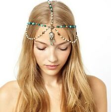 Fashion Metal Rhinestone Head Chain Jewelry Headband Head Piece Hair band BB